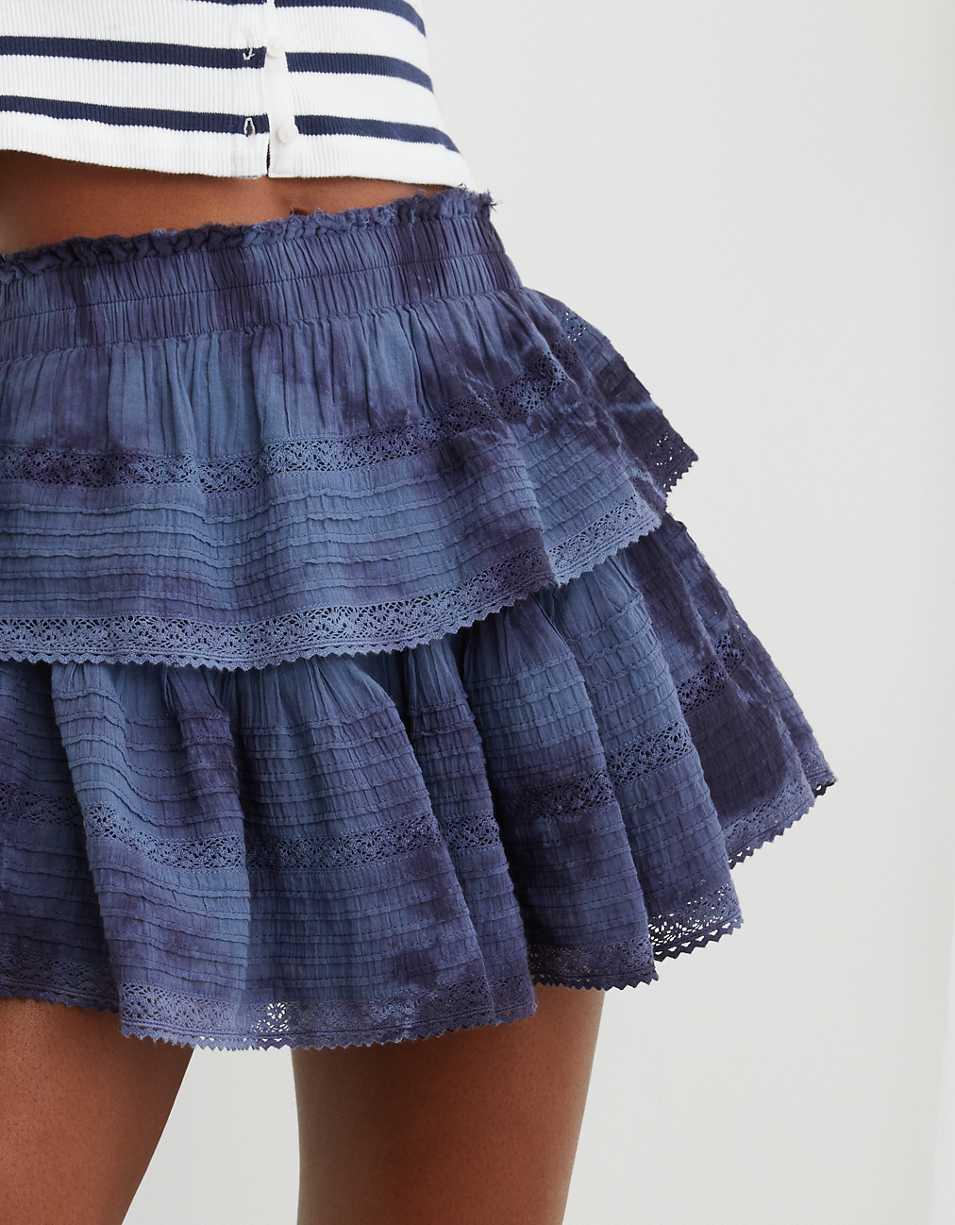 Aerie Rock 'n' Ruffle Mini Skirt