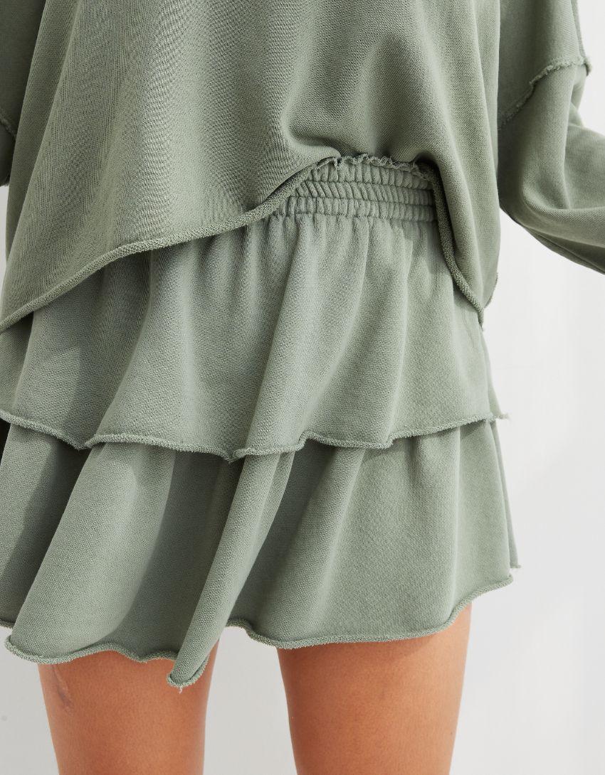 Aerie Weekend Ruffle Mini Skirt