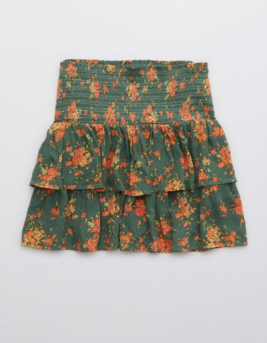 Aerie Frills 'N' Thrills Printed Mini Skirt
