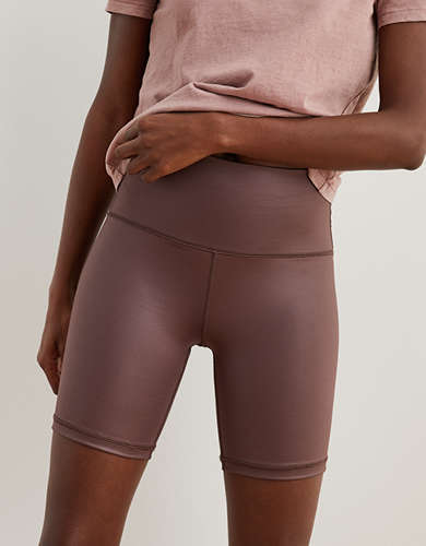 Aerie Play Shine High Waisted Bike Short