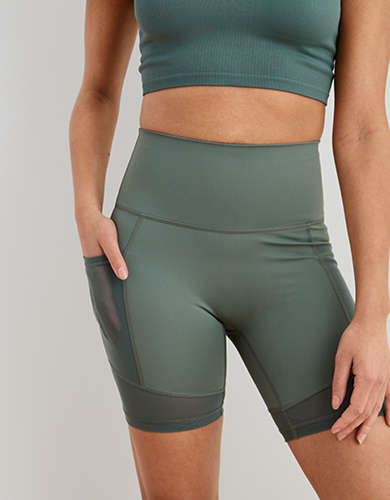 Aerie Move Mesh High Waisted Bike Short