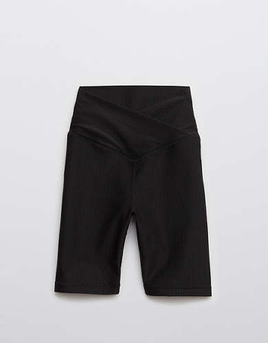 OFFLINE Ribbed Shine High Waisted Crossover Bike Short