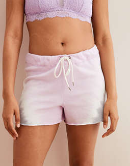 Aerie Fleece Tie Dye Short