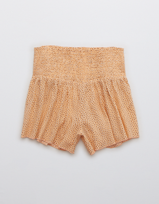 Aerie Real Good Smocked High Waisted Short