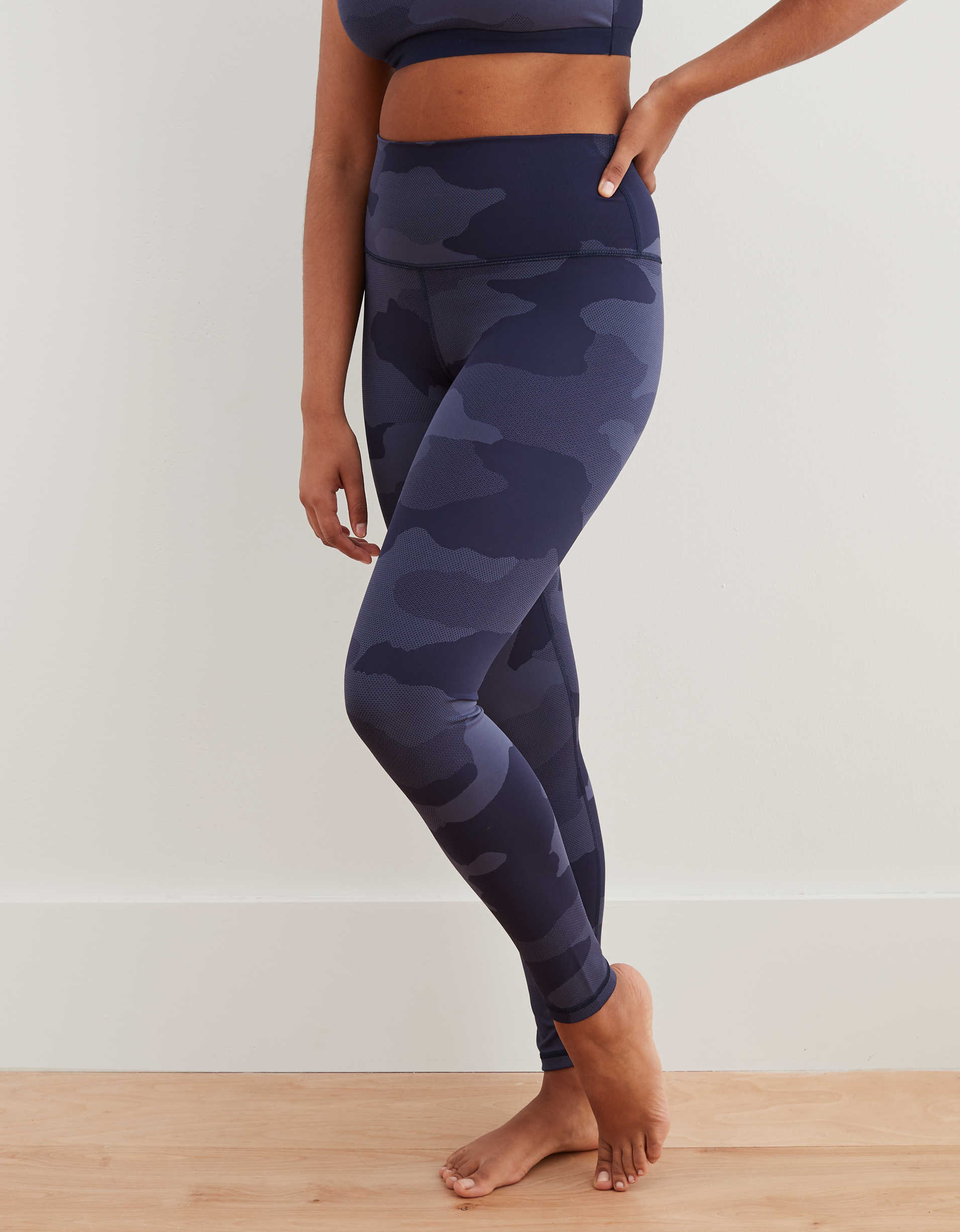 Aerie Play Textured Camo High Waisted 7/8 Legging