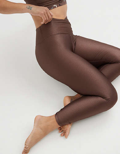 OFFLINE Ribbed Shine High Waisted Crossover Legging