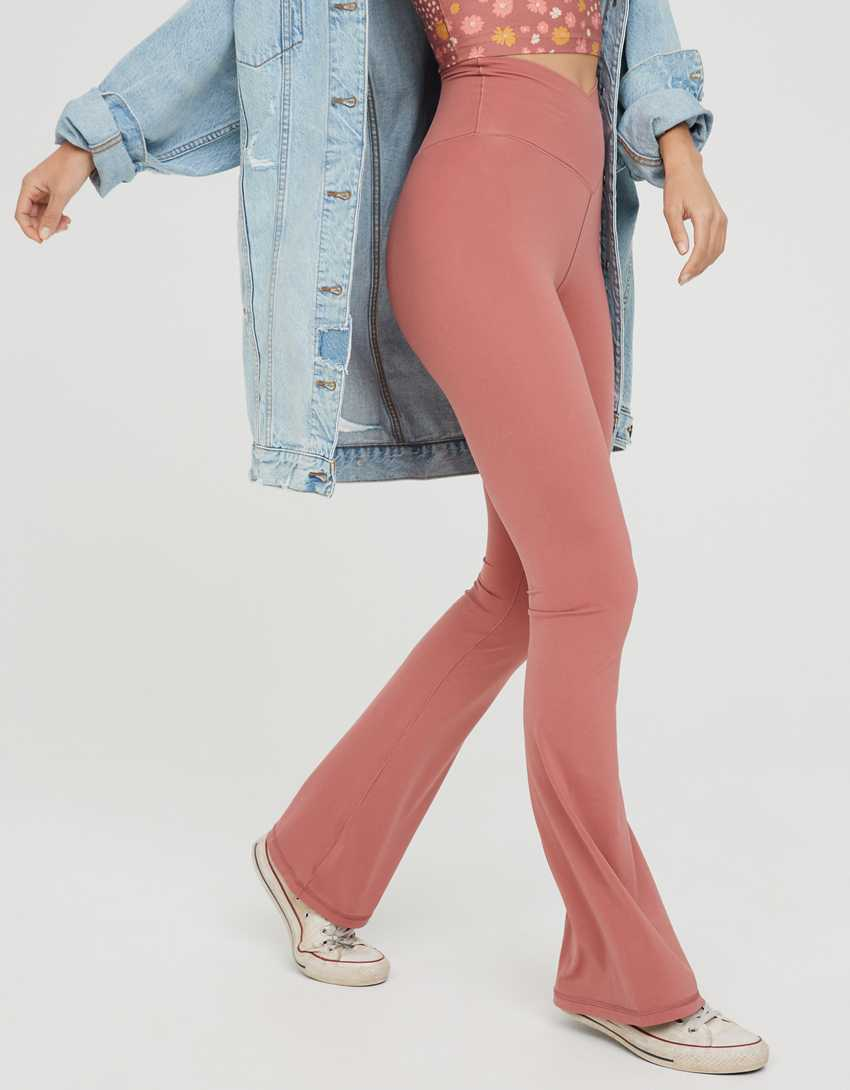 OFFLINE Real Me High Waisted Crossover Flare Legging