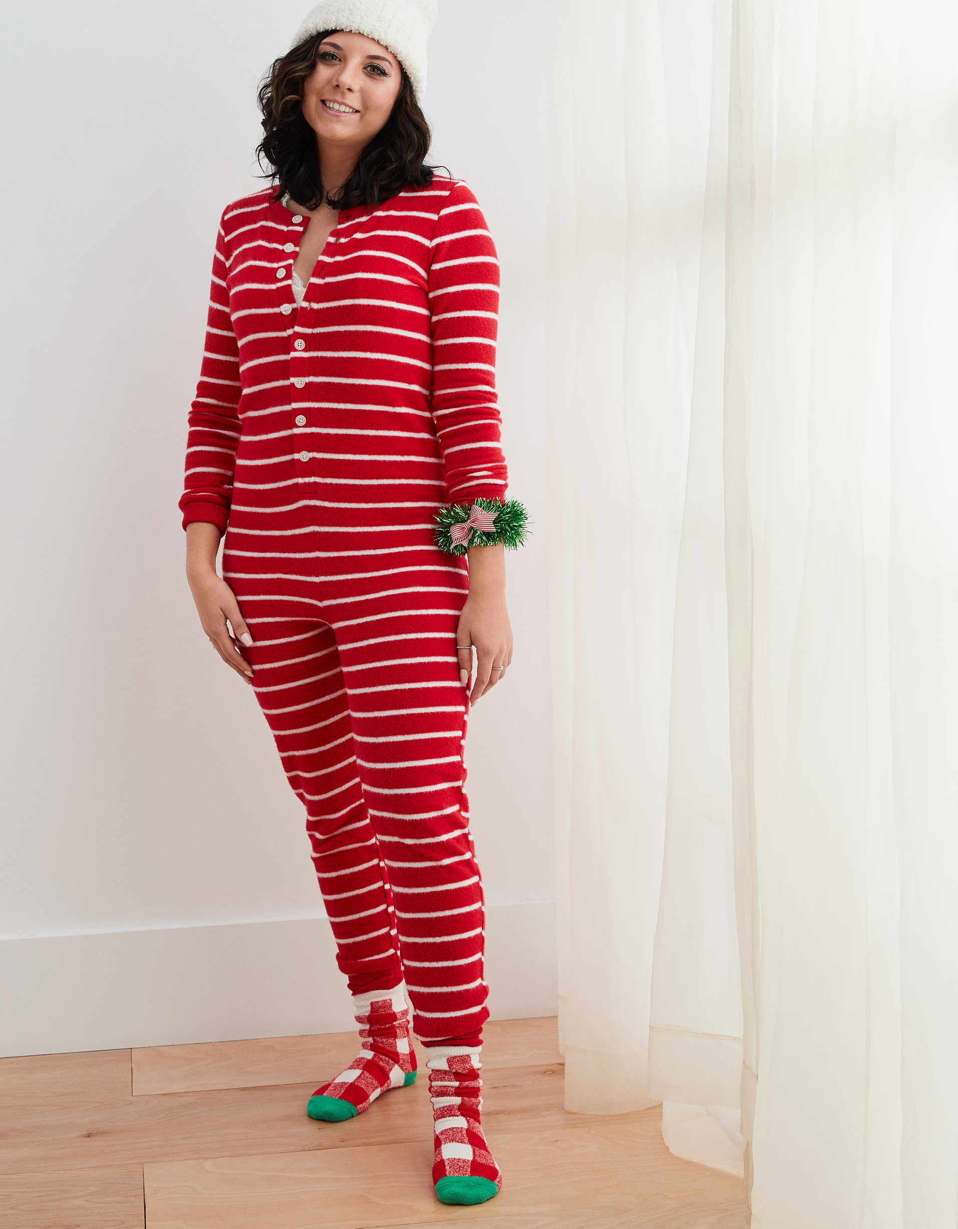 Aerie Inside Out Dreamy Soft Pajama Jumpsuit