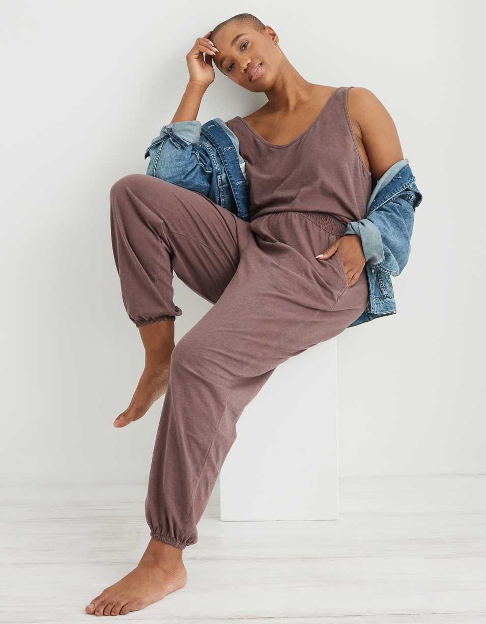 Aerie Everyday Track Jumpsuit