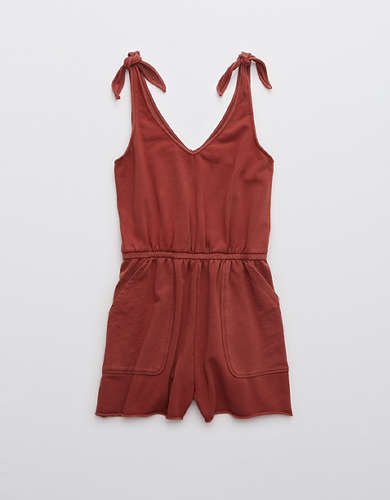 Aerie Sunset Terry Fleece Tie Romper