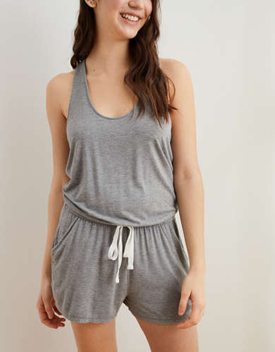 Aerie Knit Twist Back Romper