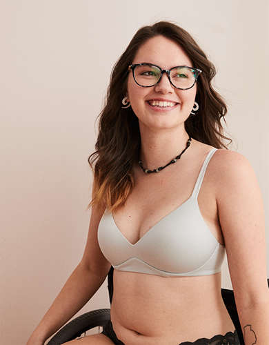 Aerie Real Sunnie Wireless Push Up Bra