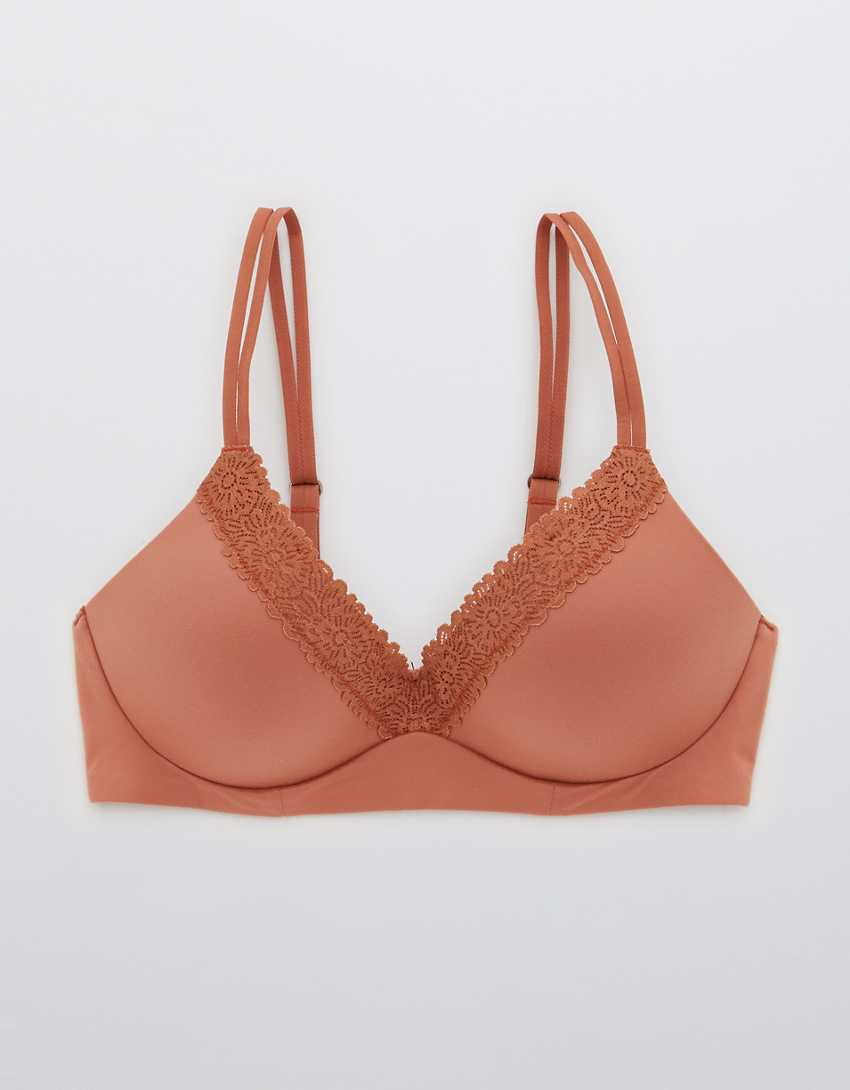 Aerie Real Sunnie Wireless Push Up Blossom Lace Bra