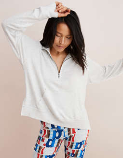 Aerie Plush Quarter Zip Sweatshirt