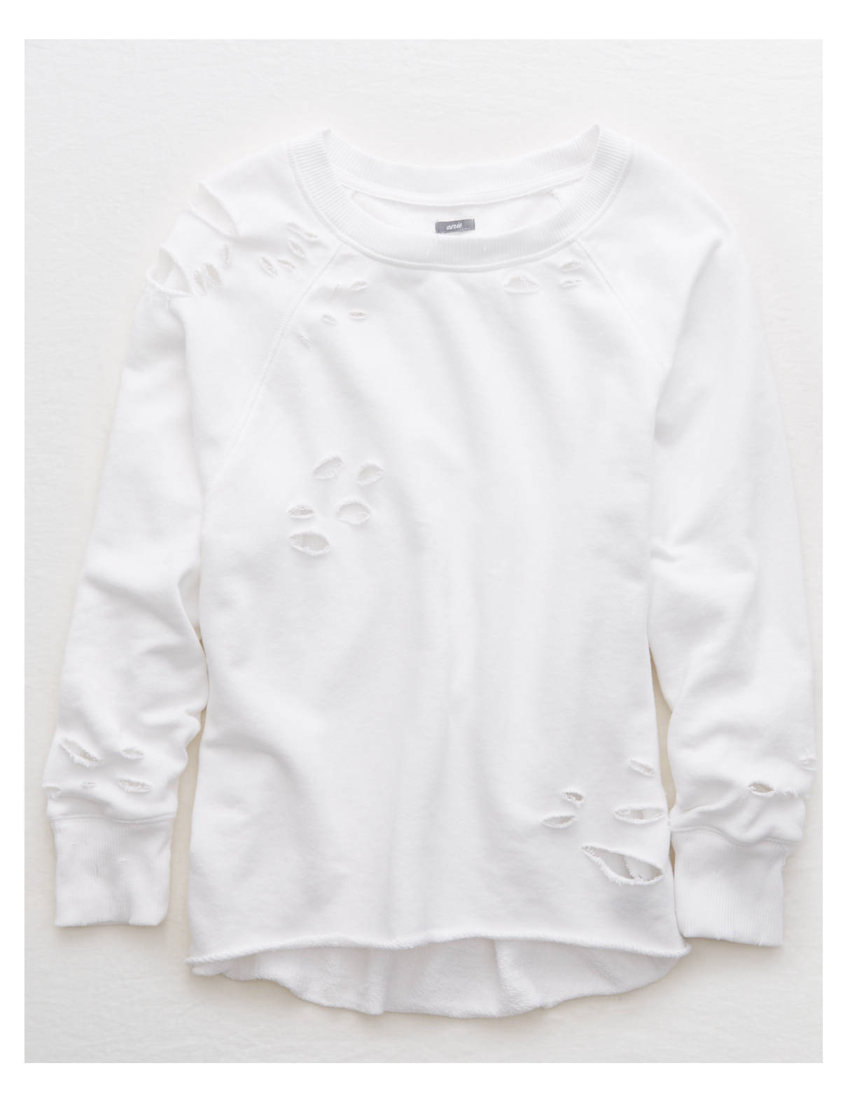 Display product reviews for Aerie Distressed City Sweatshirt