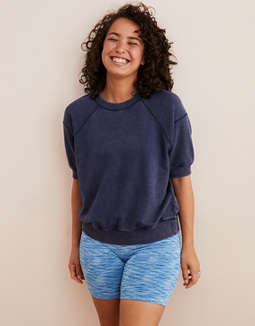 Aerie Short Sleeved Fleece