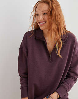 Aerie Quarter Zip Sweatshirt