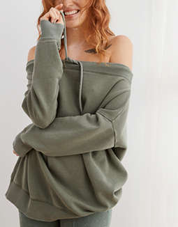 Aerie Off The Shoulder Sweatshirt