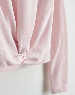 Aerie Cropped Knot Fleece