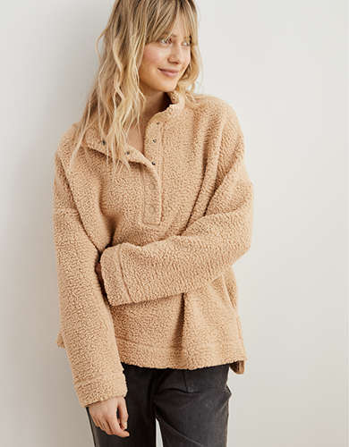 Aerie Cloud Sherpa Oversized Pullover