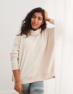 Aerie Sunday Soft Turtleneck Sweatshirt