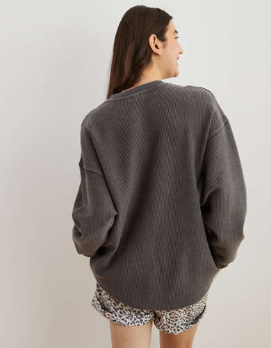 Aerie New Love Oversized Corded Sweatshirt