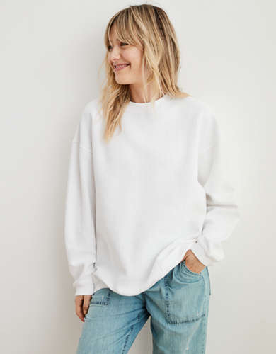 Aerie New Love Corded Oversized Sweatshirt