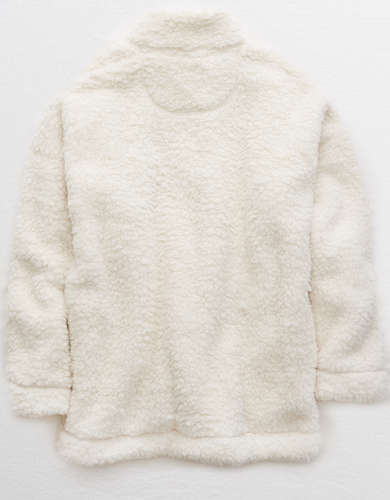 Aerie Big Chill Sherpa Oversized Pullover