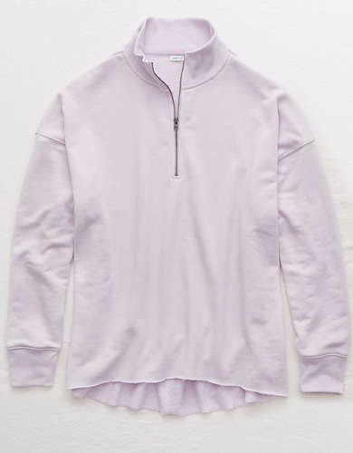 Aerie Sunday Soft Quarter Zip Sweatshirt
