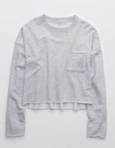 Aerie Sunday Soft Cropped Crew Sweatshirt