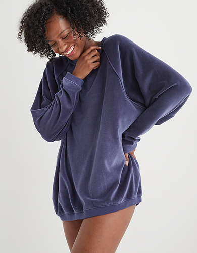 Aerie REAL Obsessed Velour Sweatshirt