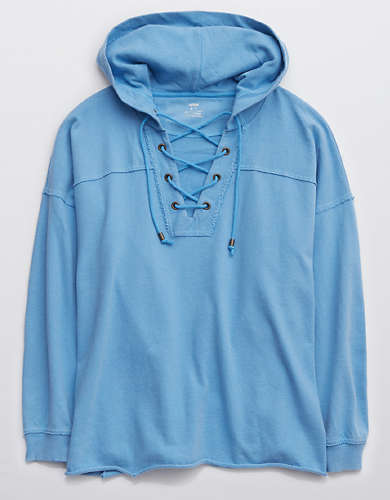 Aerie Lace Up Hoodie