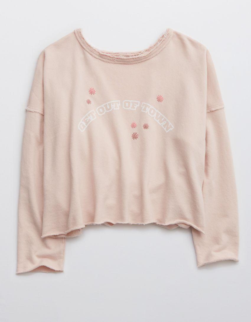 Aerie Weekend Pretty Back Sweatshirt