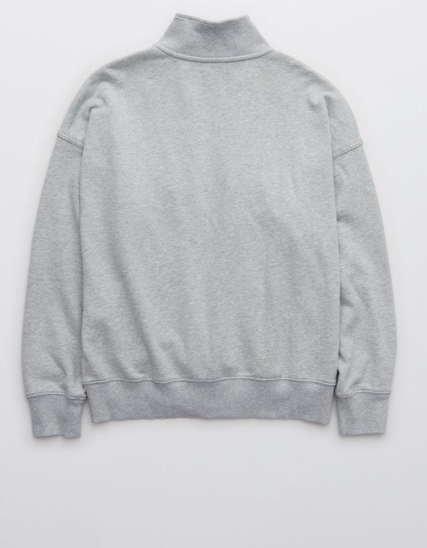Aerie Luxe Motto Quarter Zip Sweatshirt