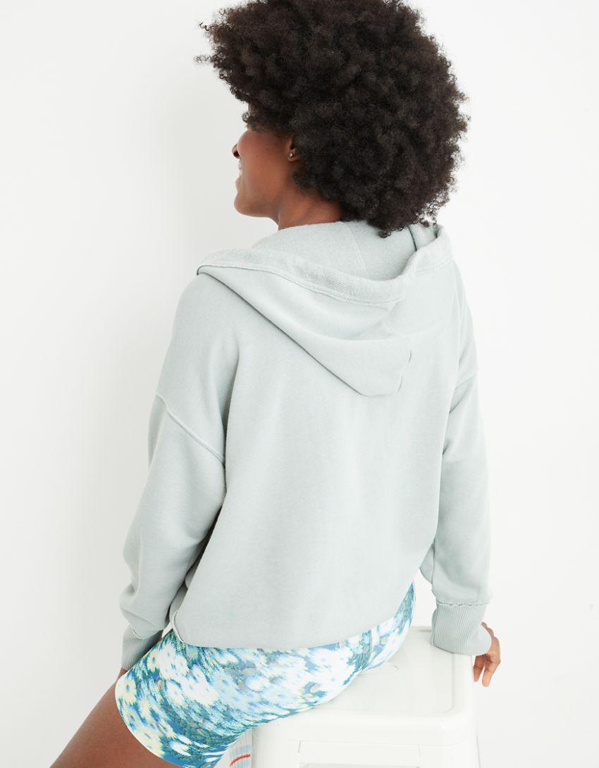 Aerie Fleece-Of-Mind Oversized Full Zip Sweatshirt