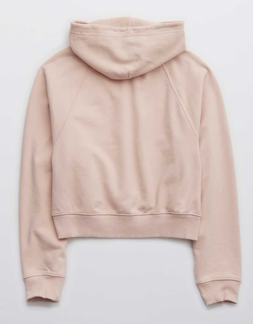 Aerie Luxe Inside Out Cropped Hoodie