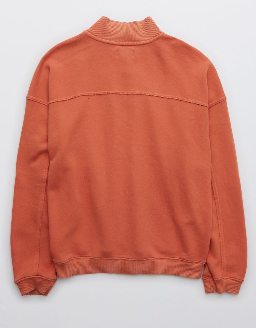 Aerie Everyday Seaming Quarter Zip Sweatshirt