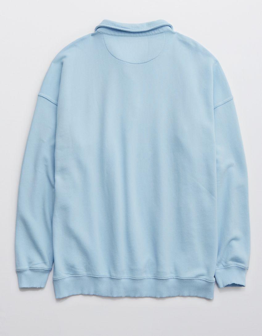 Aerie Happy Henley Everyday Polo Sweatshirt
