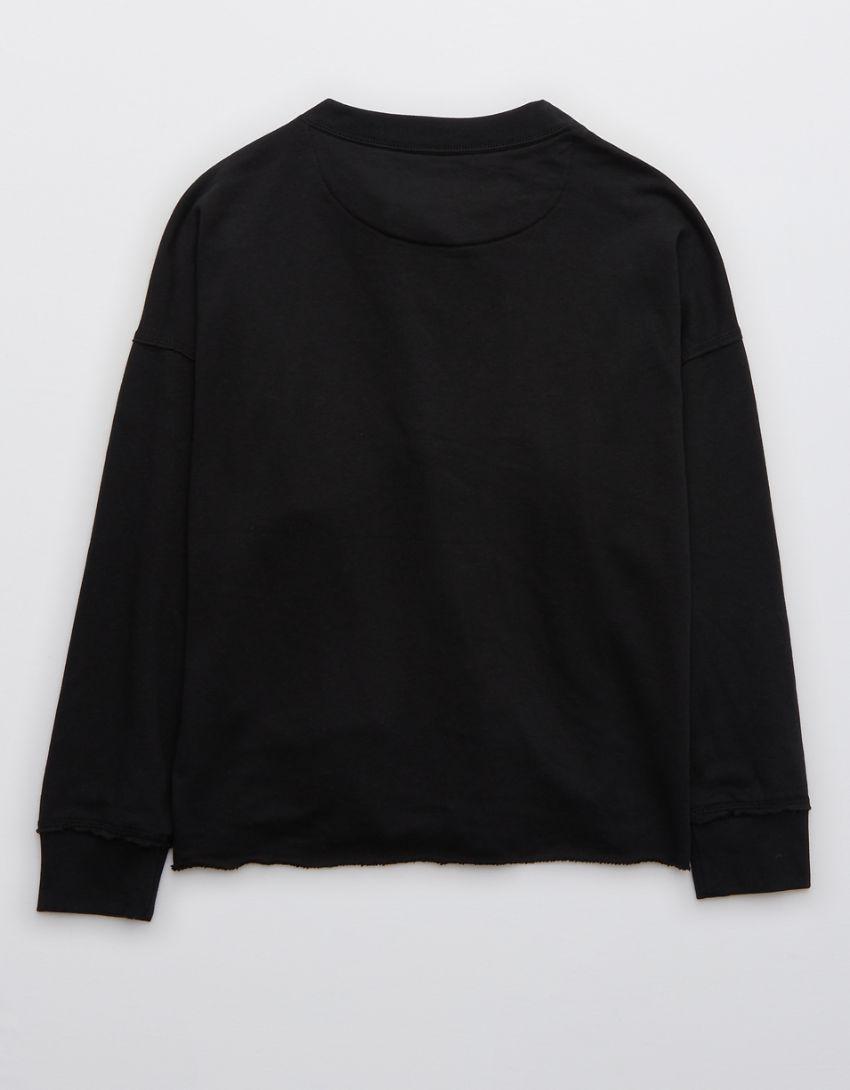 Aerie Sunday Soft Lace Up Sweatshirt