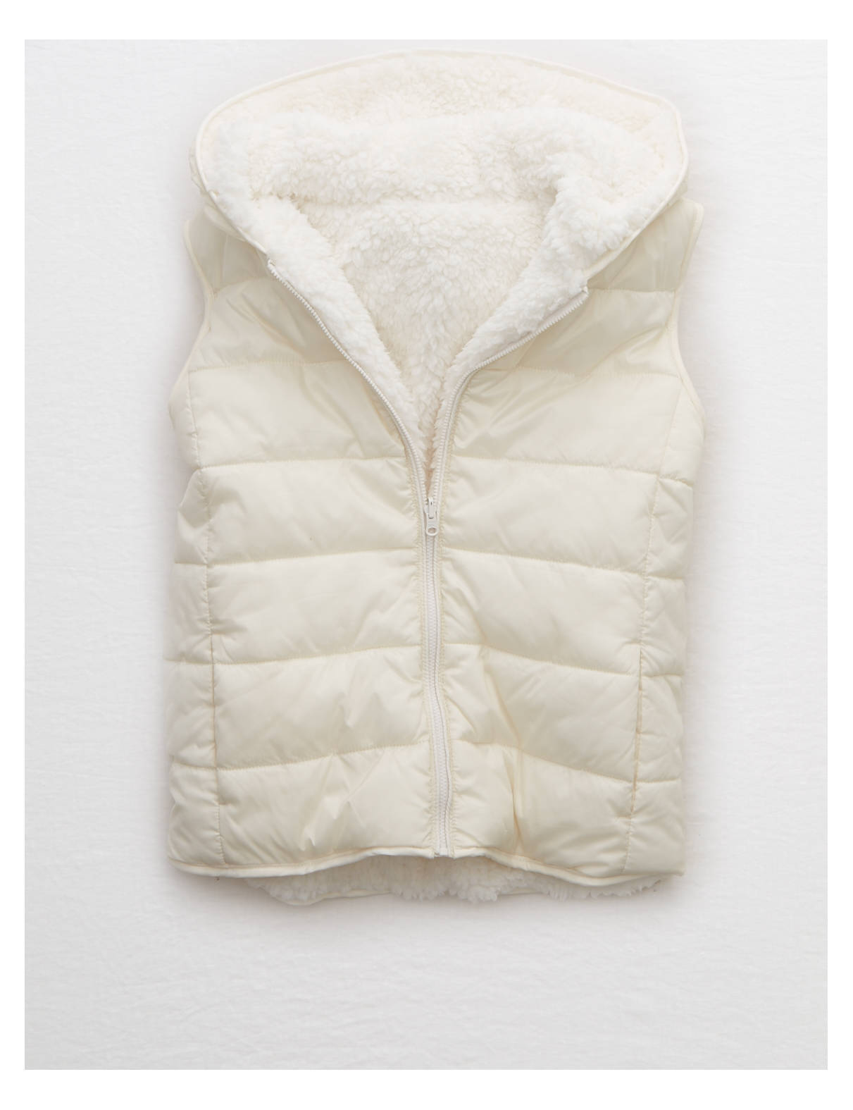 Display product reviews for Aerie Sherpa Lined Vest