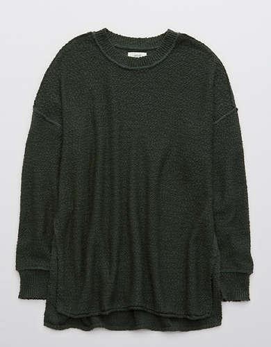 Cozy Oversized Sweater \u2022 Marled Rose