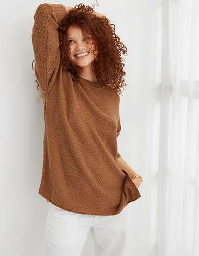 Aerie Deconstructed Crew Sweater
