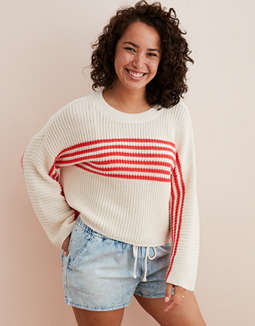 Aerie Striped Pullover Sweater