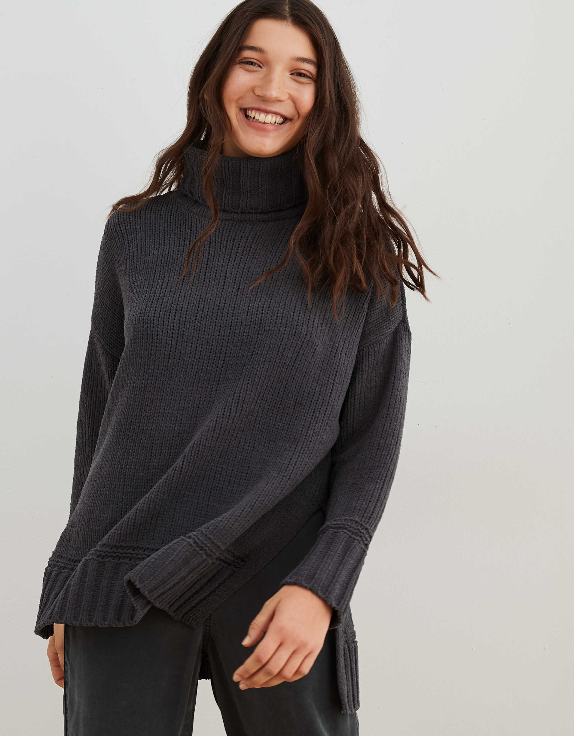 Aerie Chenille Oversized Turtleneck