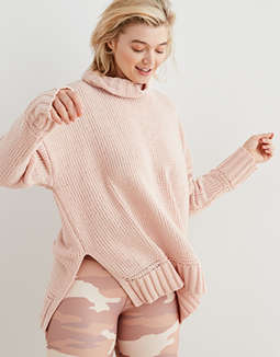 Aerie Sunset Chenille Turtleneck