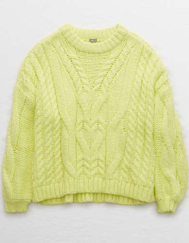 Aerie Snowday Cable Sweater