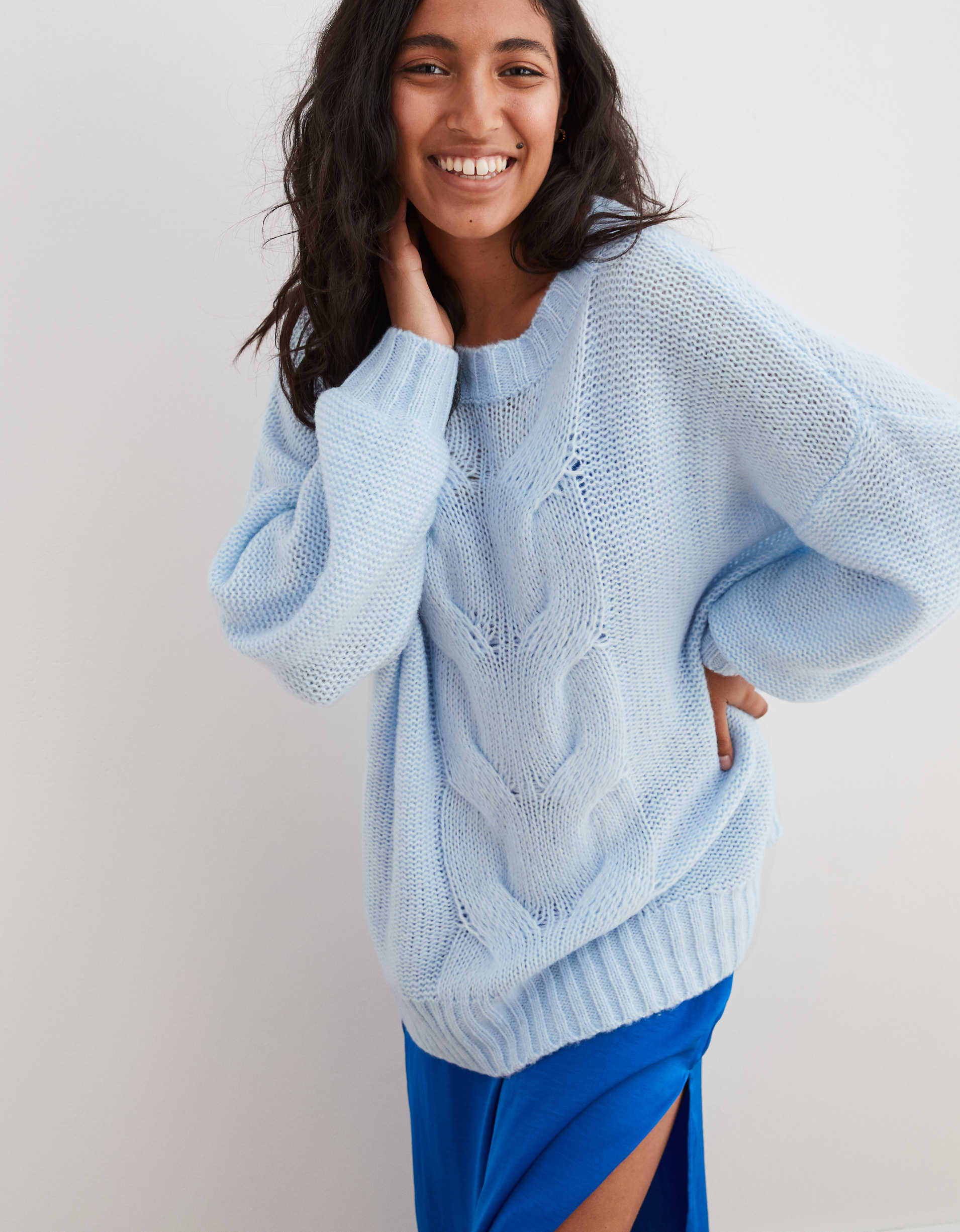Aerie Oversized Happy Place Cable Sweater