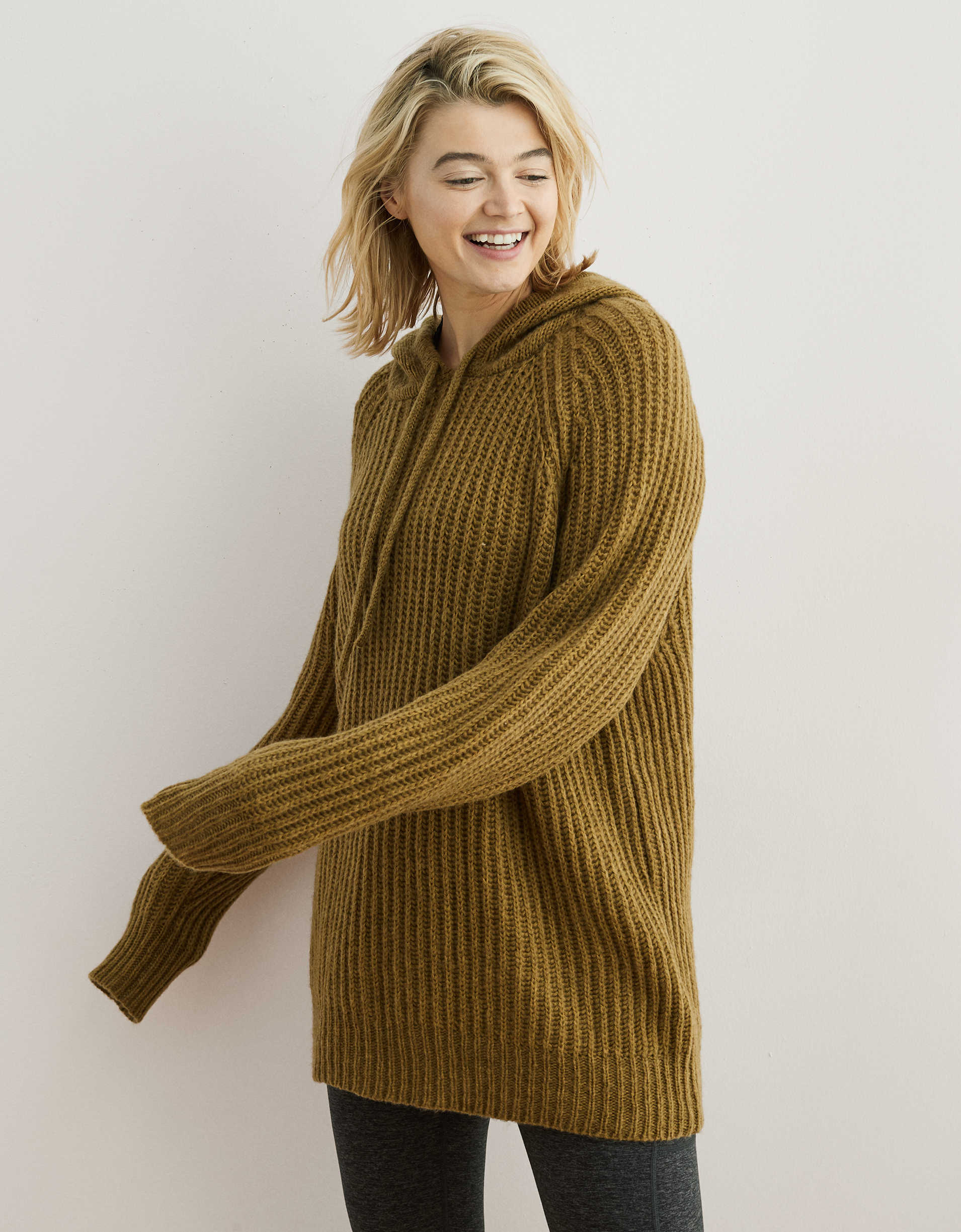 Aerie Oversized Open Road Sweater Hoodie