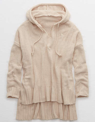 Aerie Chenille Oversized Hooded Sweater