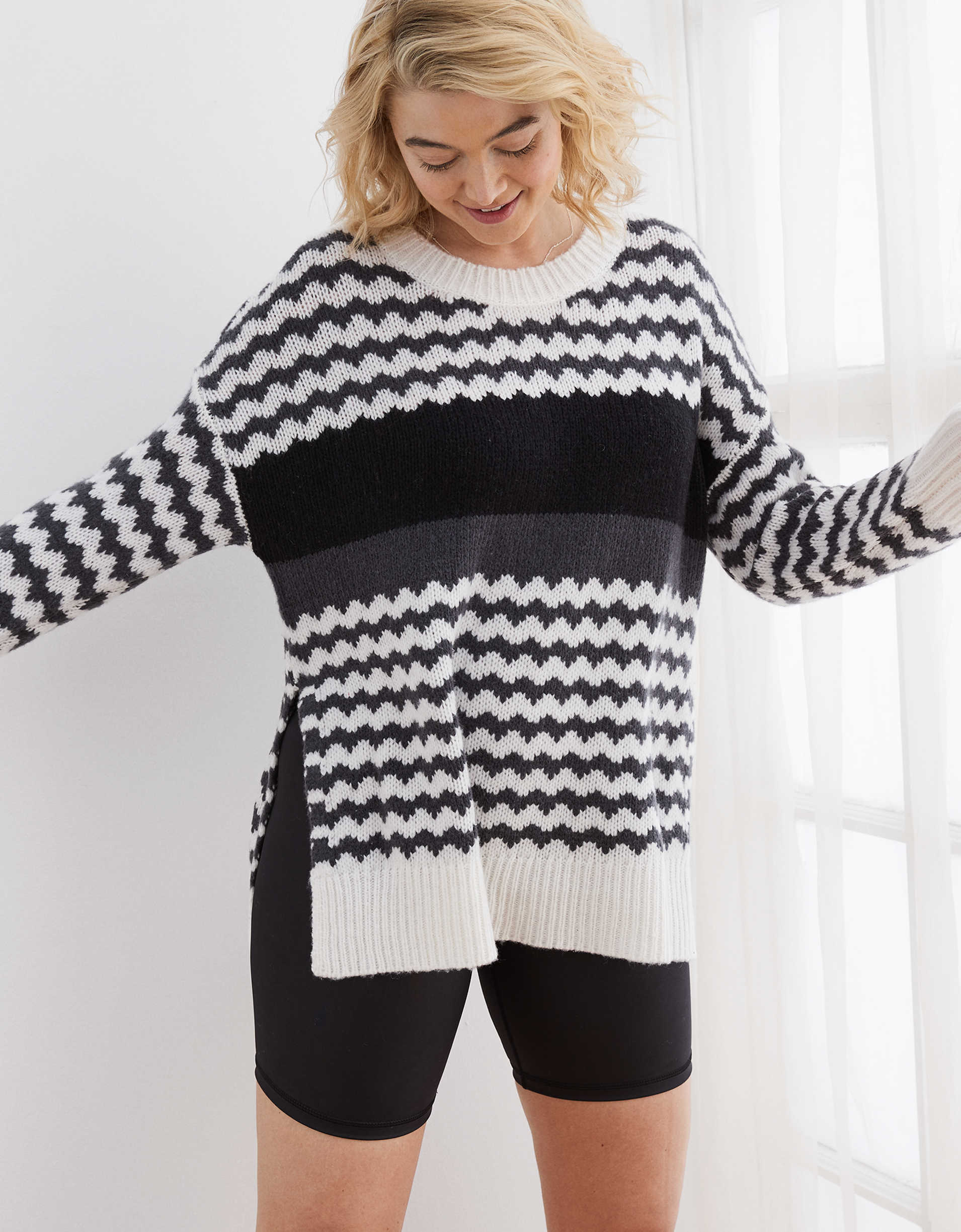 Aerie Fairisle Oversized Sweater